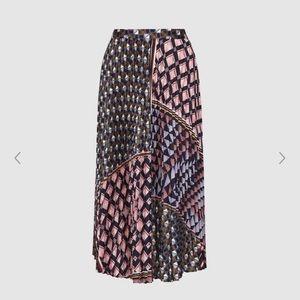 Reiss Patterned Midi Skirt